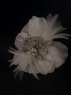 Cardigan Junkie: My Unknown Talent: DIY Bridal Headpiece