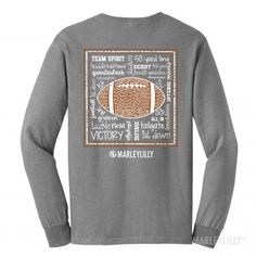 Monogrammed Game Day Long Sleeve T-Shirt in Athletic Heather! #gameday