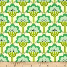 Heather Bailey True Colors Pop Blossom Turquoise from @fabricdotcom  Designed by Heather Bailey for Free Spirit, this fabric is perfect for quilting, apparel and home décor accents.  Colors include turquoise, lime, olive, black and aqua on a cream background.