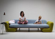 *놀이를 위한 쇼파 [ Marvin Reber ] Inclusion Couch dismantles to create an indoor playground