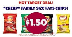 Get a **CHEAP** Bag of Family Size Lays at Target! ONLY $1.50! No coupons necessary!  Click the link below to get all of the details ► http://www.thecouponingcouple.com/stock-up-on-family-size-lays-chips-only-2-27-with-target-deal/ #Coupons #Couponing #CouponCommunity  Visit us at http://www.thecouponingcouple.com for more great posts!