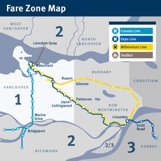 Fare Zone Map - Small