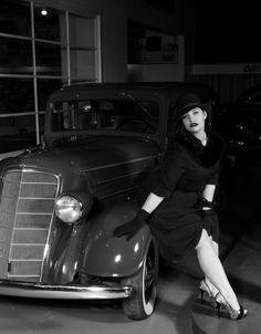 Photography by Joel Jeffrey  Model; Mandi Mae   #plussizemodel #plussizefashion #filmnoir