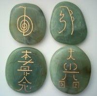 Large Usui Reiki Healing Stone: Jade-set of 4