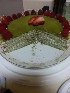 Homemade Green Tea Crepe Cake
