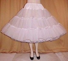 Net petticoats of different colors that were always starched.  You had to look your best in high school.