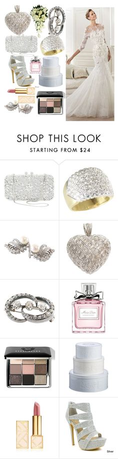 """""""Bridal"""" by egordon2 ❤ liked on Polyvore featuring Natasha Couture, H.Stern, Elie Saab, Christian Dior, Bobbi Brown Cosmetics, Mason Cash, Tory Burch and Celeste"""