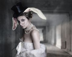 hmm is this Alice, the mad hatter or the white rabbit? Whatever-- great picture