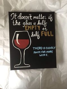 Wine quote canvas