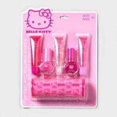 Hello Kitty Gloss and Polish Set Hello Kitty Makeup, Hello Kitty Nails, Hello Kitty Items, Kids Makeup, Cute Makeup, Shoe Cakes, Purse Cakes, Minnie Mouse Toys, Camo Wedding Cakes