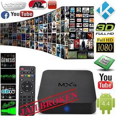 Mxq Android Quad Core Wifi Smart TV Box Xbmc Fully Loaded for sale online Smart Tv, Drones, Quad, Mens And Health, Listen To Music Online, Xbmc Kodi, Android 4.4, Google Tv, Home Internet