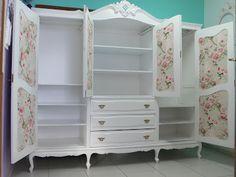 Ateliando - Customização de móveis antigos: Quarto Provençal by Ateliando no Tempo...