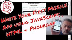 How to create a mobile app using HTML and JavaScript with Phonegap - My First Mobile App https://youtu.be/72jIUkKTCg8