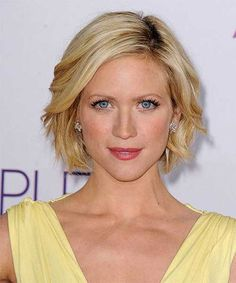 Celebrity Short Hairstyles.... Brittany Snow ideal short waves. this one has been hard for my straight hair to achieve. she makes it look so easy.