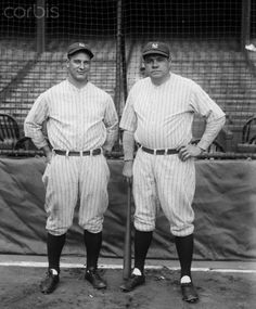 Lou Gehrig and Babe Ruth 1927