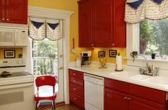 red kitchens | Cabinets for Kitchen: Pictures of Red Kitchen Cabinets
