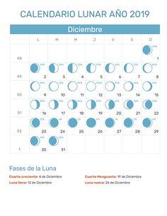 Calendario Lunar 2020 Espana.Las 12 Mejores Imagenes De Calendario Lunar Ano 2019 Fases De La
