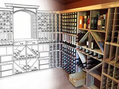 From a dream idea, to a design, to reality! Nothing makes us happier than seeing these beautiful wine cellars come to life.