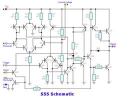 The 555 timer Electronic Circuit Projects, Electrical Projects, Electronic Engineering, Electrical Engineering, Electronics Basics, Electronics Components, Electronics Projects, Dc Circuit, Circuit Diagram