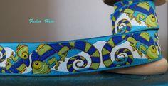 Iguanarama Webband  mit Leguanen von Faden Hexe auf DaWanda.com