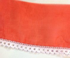 Red Sheer Trim      3 1/2 inches wide    2 yards