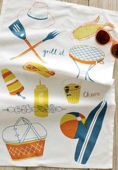 print & pattern: TEA TOWELS - claudia pearson/west elm