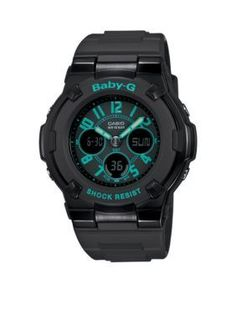 6358616cafb6 G-Shock Black with Blue Accents Ana-Digi Baby-G Watch Casio G