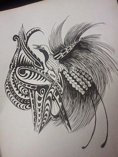 Bird of paradise tattoo papua new guinea 48 Ideas Bird Of Paradise Tattoo, White Bird Tattoos, Black Tattoos, Tribal Tattoo Designs, Tribal Tattoos, Tatoos, Drum Tattoo, Bird Tattoo Wrist, Bird Artwork