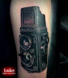 Rolleiflex camera tattoo