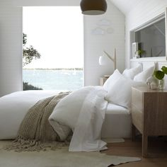 Bed Linen and Quilt Covers from Home Republic - Scout at Adairs I love the clean white look! Beach House Bedroom, Cozy Bedroom, Bedroom Decor, Master Bedroom, Serene Bedroom, Light Bedroom, Bedroom Bed, White Bedroom, Design Bedroom