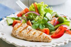 salada e frango