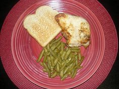 Grilled Chicken w/o skin, Green Beans & Wheat Toast    I am not an advocate nor do I recommend fast foods, however in our society in which we live - - most of us have very busy lives for many reasons and often find ourselves backed against the wall for Want recipes to help you lose weight, check this out. http://www.DOWNLOADPAGES.INFO/SimpleWeightLossRecipes