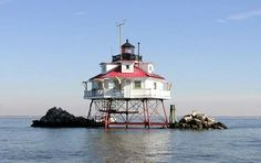 The Thomas Point Shoal  lighthouse Maryland