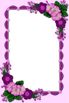Flower Background Design, Pink Background Images, Watercolor Flower Background, Flower Background Wallpaper, Flower Phone Wallpaper, Flower Backgrounds, Boarder Designs, Page Borders Design, Frame Floral