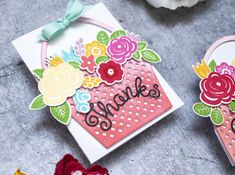 Bloomin' Cute Floral Baskets » Paper Suite Shaped Cards, Color Effect, Black Paper, New Leaf, Gift Packaging, Unique Colors, Floral Arrangements, Create Your Own, Baskets