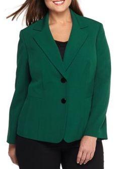 Kasper  Plus Size Two Button Jacket