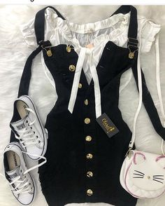 Girly Outfits – Page 1915544520 – Lady Dress Designs Teen Fashion Outfits, Cute Fashion, Outfits For Teens, Girl Fashion, Girl Outfits, Cute Casual Outfits, Cute Summer Outfits, Stylish Outfits, Mode Rockabilly