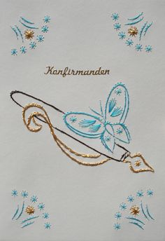 Embroidery Cards, Hand Embroidery, Card Patterns, Ova, Fountain Pen, Stitch, Crochet, Paper Envelopes, Cards
