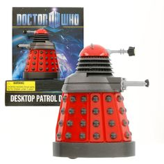 "Amazon.com: Doctor Who Dalek - Red Desktop Patrol Figure with Motion Detectors and Sound Effects - 4"" Tall: Toys & Games"