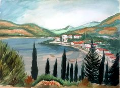 from my tv show, watercolor painting on camera. Watercolors, Watercolor Paintings, Chios, Me Tv, Albums, Tv Shows, Beach, Books, Art