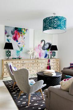 Love this Lounge Room, with two Miranda Skoczek Artworks. Amazing!! My Home Style