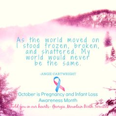 A woman's feelings after a miscarriage. October is Pregnancy and Infant Loss Awareness Month. #BreakTheSilence #baby #women #Pregnancylossawareness