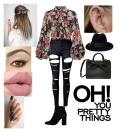 """""""😍Oh you pretty things😍"""" by dreamerz-dream-on ❤ liked on Polyvore featuring WithChic, Jill Stuart, MANGO and Gucci"""