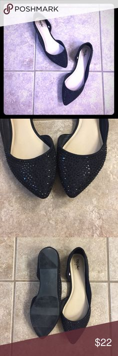 Black Rhinestone Flats Love the black rhinestone on black microsuede look! So elegant! These flats have never been worn. In perfect condition & absolutely stunning in person! TSC4 Mossimo Shoes Flats & Loafers