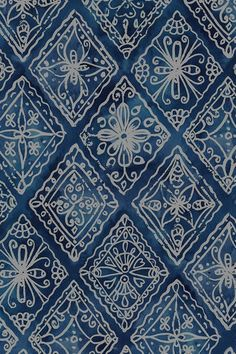Indigo Boho by lauraflorencedesign - Hand drawn bohemian pattern in blue on fabric, wallpaper, and gift wrap. Bold bohemian pattern in blue. pattern Colorful fabrics digitally printed by Spoonflower - Indigo Boho Bohemian Wallpaper, Trendy Wallpaper, Fabric Wallpaper, Pattern Wallpaper, Print Wallpaper, Batik Pattern, Pattern Art, Pattern Design, Pattern Ideas