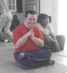 Action For Kids student Michael, who has Downs Syndrome, doing a yoga class. Autism Classroom, Classroom Resources, Down Syndrome Kids, Special Needs Students, Yoga For Kids, Activities To Do, Young People, Special Education, Peeps