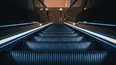 New free stock photo of steel escalator empty