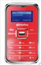 Acheter Téléphone Simvalley RX 180 Pico Inox rouge moins cher - 25,79 € livré