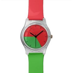 Working 9 to 5 Fashion Watch Red and Green