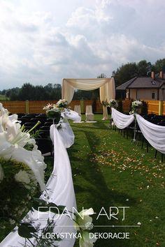 Ślub w plenerze, Gołdap, Edan-Art #wesele #slub